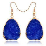 Colorful Water Drop Dangle Earrings Jewelry For Women