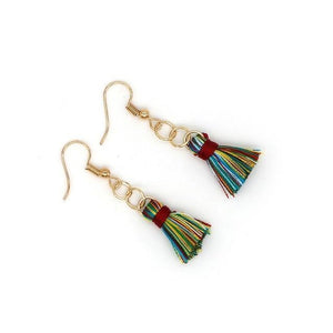 Trendy Long Dangles Handmade Tassel Earrings