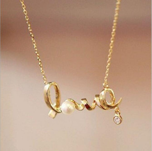 Vintage Fashion Heart Of Love Chic Sweet Couple Necklace Jewelry