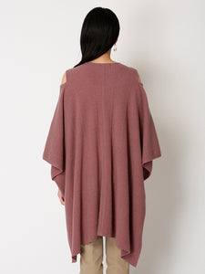 Wool Poncho Knit Pullover