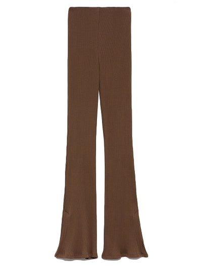 Straight-cut Rib Pants