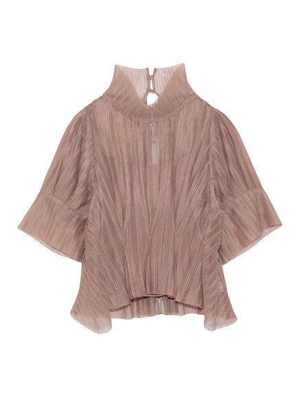 Sheer Pleats Blouse
