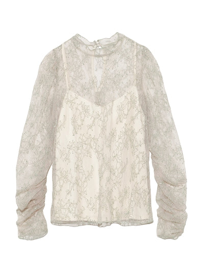 Lace Turtleneck Blouse