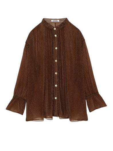 Pleated Oversized Shirt
