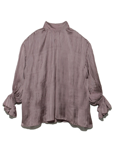 Pleated Flaire Sleeve Blouse