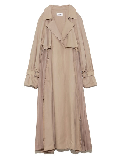 Side Pleated Trench Coat