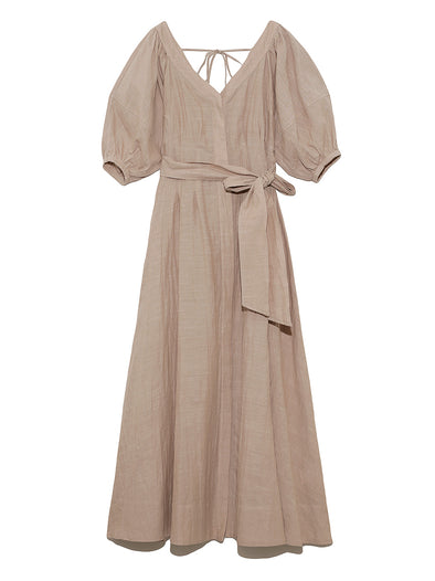 Back Bow Cotton Maxi Dress