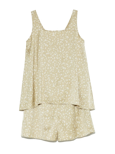 【ONE MILE Capsule Collection】Satin Tank and Shorts Set