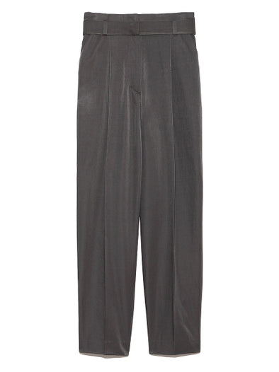 Belted Twill Tapered Pants