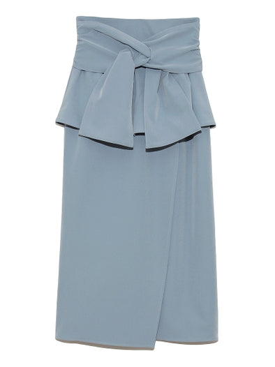 Peplum Skirt with Ribbon