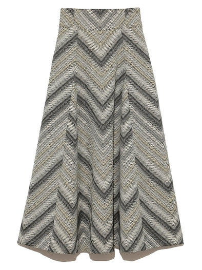 Jacquard Stripe Skirt