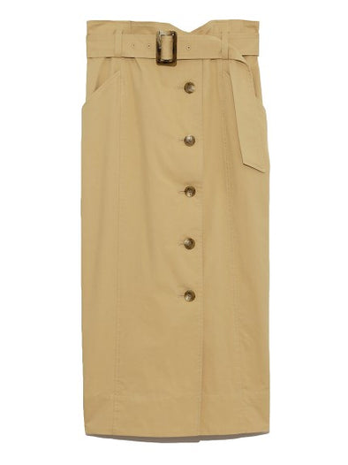 Belted Trench Skirt