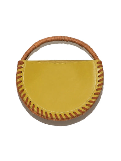 Leather Round Bag