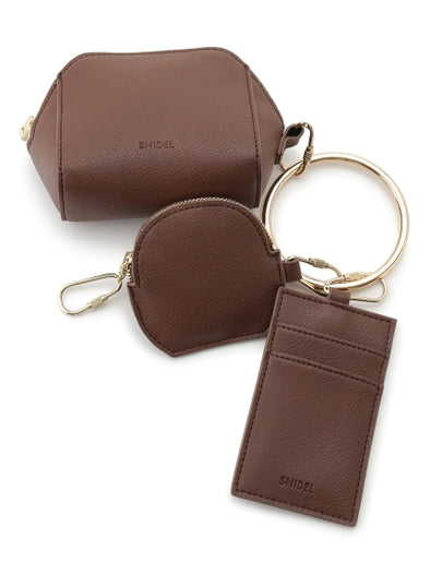 Leather Pouch Trio Charm