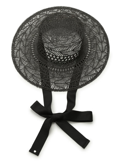 Straw Hat with Ties