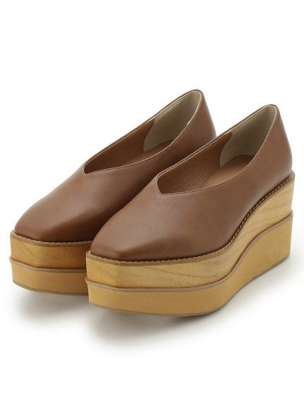 Wood Platform Shoes