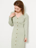 Sustaina Front Buttoned Knit Dress