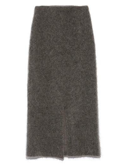 Fitted Mohair Skirt