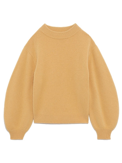 Natural Dyed Balloon Sleeve Knit Sweater
