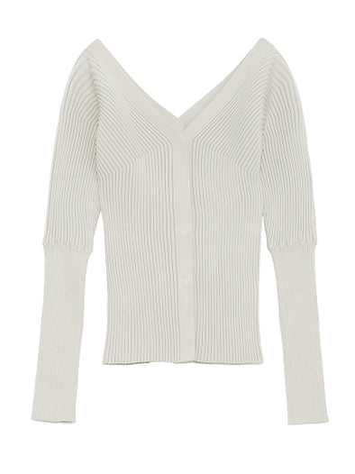 Off Shoulder Knitted Cardigan