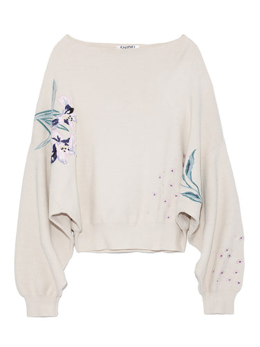 Dolman Embroidered Knit Top(SWNT185076)