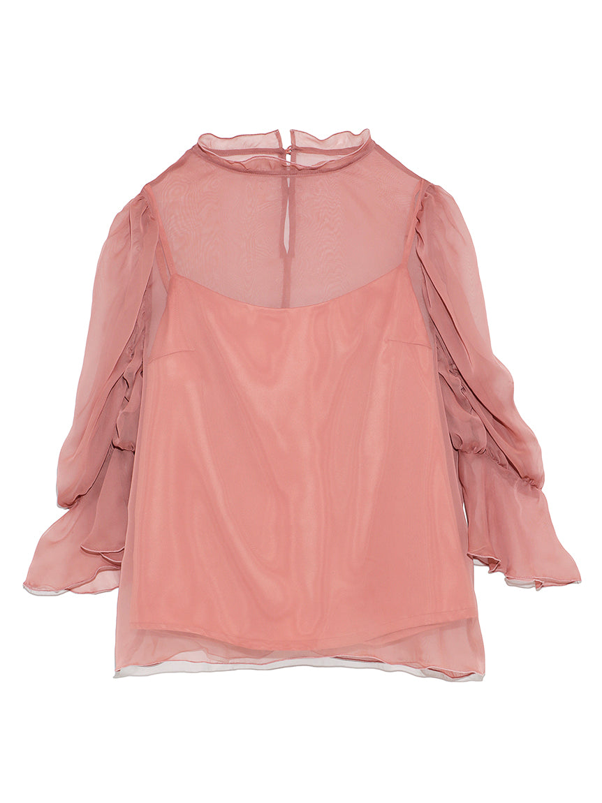 Sheer Blouse Layered Camisole