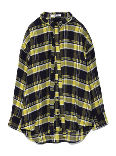 Rear Logo Embroidered Flannel Shirt