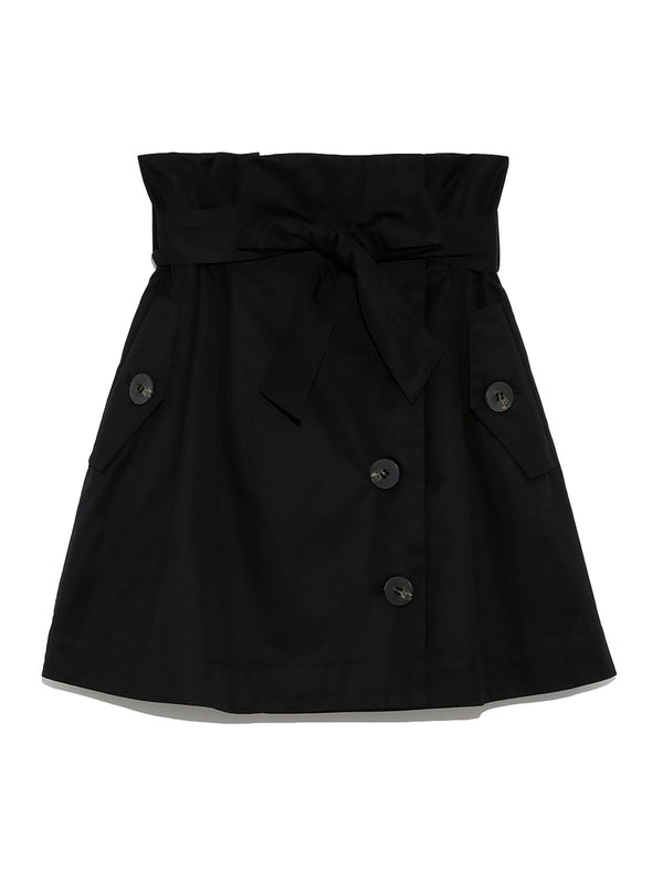 Trench Style Mini Skirt