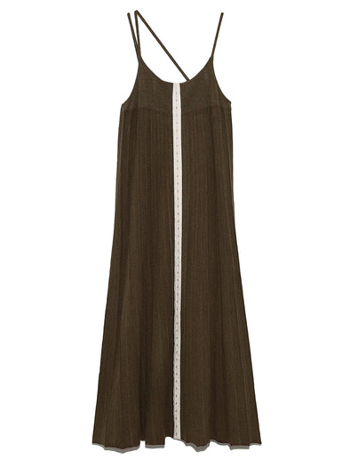 Knit Cami Pleated Dress