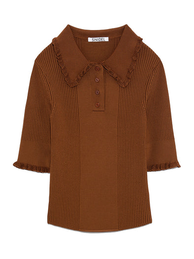 Half-sleeve knit polo