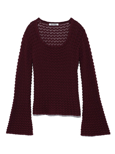 Crochet Knit Top (SWNT185143)