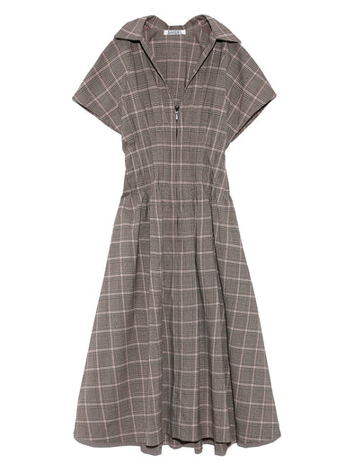 Tuck Waist Shirt Dress