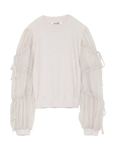Switched Sleeve Knit Top (SWNT185075)