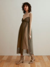 Load image into Gallery viewer, Camisole Layer Knit Dress