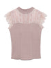 Lace Combined Non-sleeve Knit Top