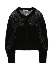 Detailed Knit Lace Cardigan (SWNT192083)