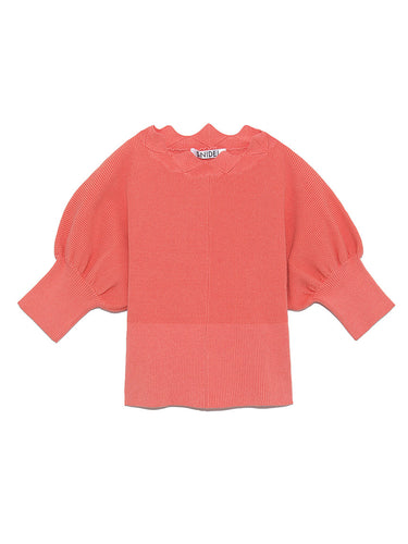 Puff Sleeve Knit Pullover (SWNT191103)