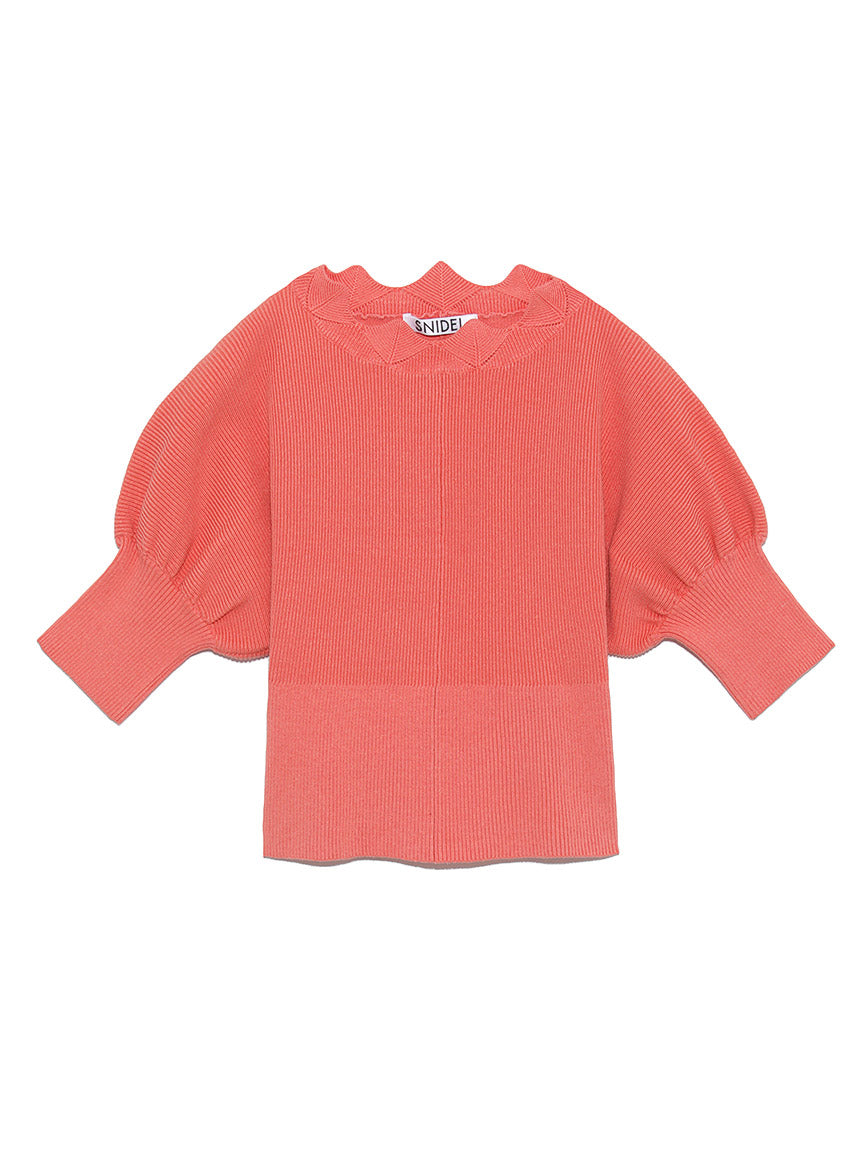 Puff Sleeve Knit Pullover