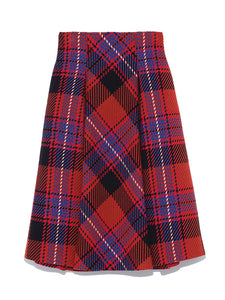 Checkered Roving Midi Skirt (SWFS185106)