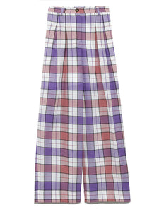 Original Check Wide Pants (SWFP191142)