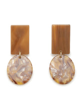Load image into Gallery viewer, Squared marble printed earrings (SWGA194678)