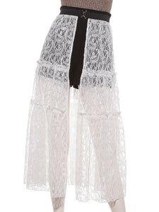 Tiered Lace Covered Skirt  (SWFP192114)