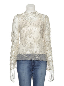Puckering Lace Top (SWCT191117)