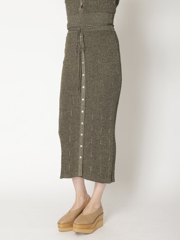 Lamé Knitted Skirt