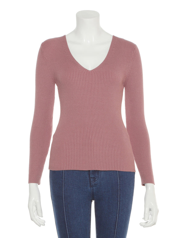 V-neck Knit Top
