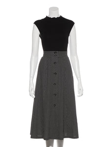 Linen Skirt Combined Dress (SWNO192040)