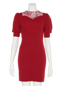 See Through Tight Mini Knit Dress (SWNO185040)