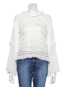 Frilled Cotton Blouse (SWFB191080)
