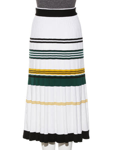 Color Block Knit Skirt ( SWNS192097 )