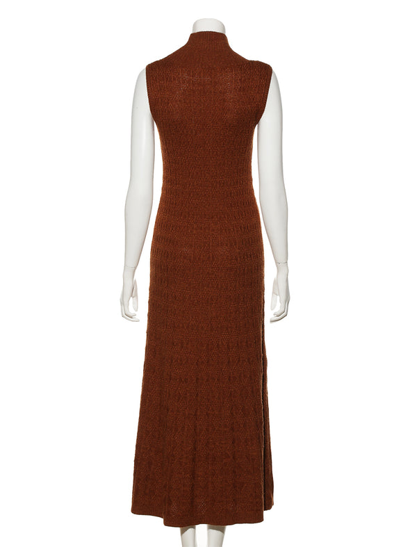 Melange American-style sleeve knit dress